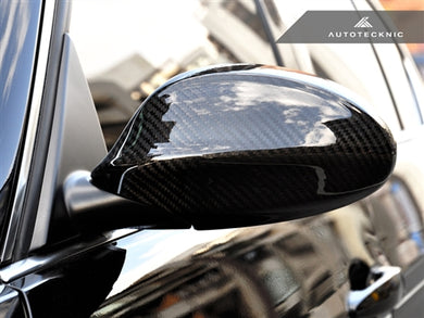AutoTecknic Dry Carbon Fiber Mirror Covers - BMW E90/ E91 (06-08 Pre-Facelift) 3 Series Sedan/ Wagon