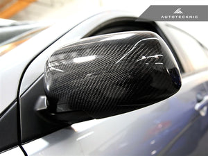 Shop AutoTecknic Dry Carbon Fiber Mirror Covers - Mitsubishi Evolution VII/ VIII/ IX MR - AutoTecknic