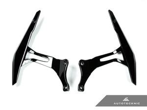 Shop AutoTecknic Glazing Black Competition Shift Paddles - Ferrari 458 Italia / Spider - AutoTecknic USA