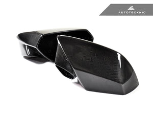 AutoTecknic Replacement Dry Carbon Mirror Covers - Lamborghini Huracan LP610-4 | LP580-2