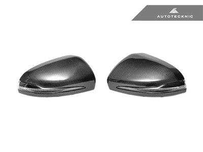 AutoTecknic Replacement Carbon Fiber Mirror Covers - Mercedes-Benz W205 C-Class | W222 S-Class