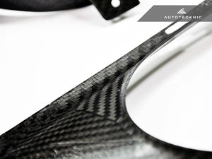 AutoTecknic Dry Carbon Exhaust Shield - Nissan R35 GT-R