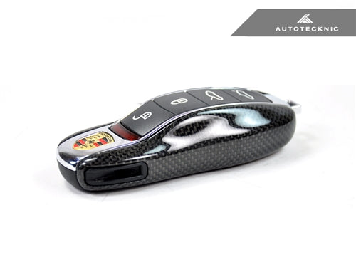 AutoTecknic Replacement Carbon Fiber Key Cover - Porsche