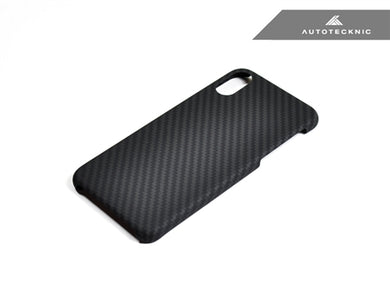 AutoTecknic Dry Carbon iPhone Cover - iPhone X - Matte Finish