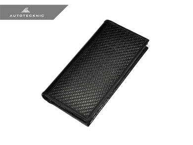 AutoTecknic Carbon Fiber Long Leather Wallet Pouch