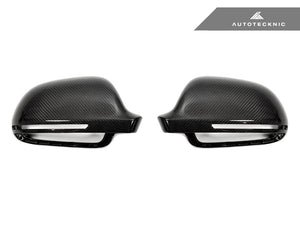 Shop AutoTecknic Replacement Carbon Mirror Covers - Audi 8P A3/ S3 08-10 | B8 8K A4/ S4 08-09 | 8T A5/ S5 08-09 - AutoTecknic