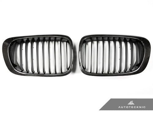 Shop AutoTecknic Replacement Carbon Fiber Front Grilles - E46 3-Series Coupe Pre-Facelift | M3 - AutoTecknic