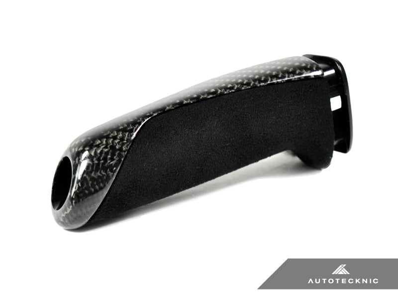 Shop AutoTecknic Carbon Alcantara E-Brake Handle - BMW F-Chassis - AutoTecknic USA