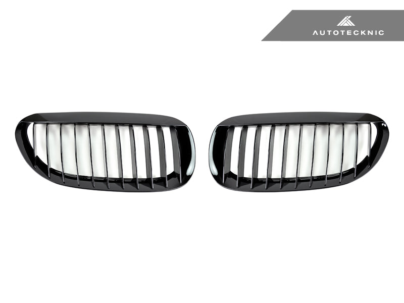 AutoTecknic Replacement Glazing Black Front Grilles - E63/ E64 6-Series & M6 - AutoTecknic USA