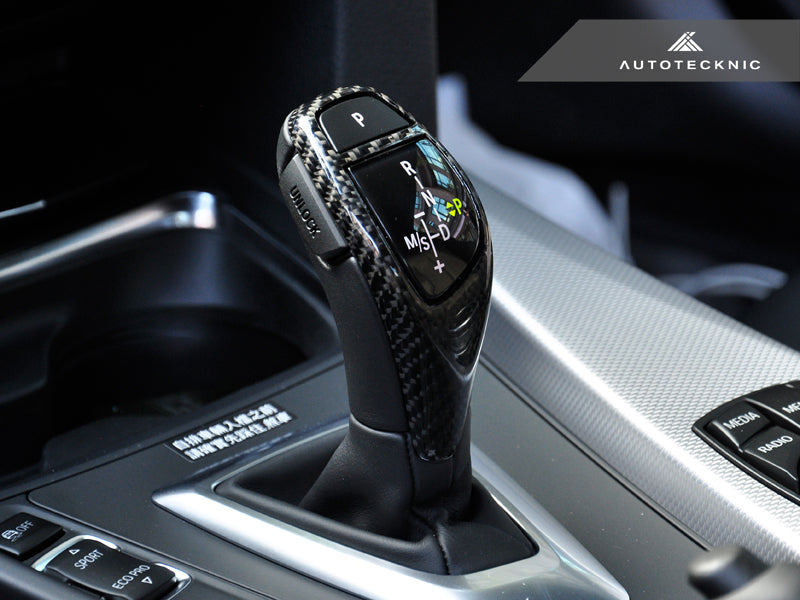 AutoTecknic Carbon Fiber Gear Selector Cover - BMW (Sport Automatic Transmission Equipped Only) - AutoTecknic USA