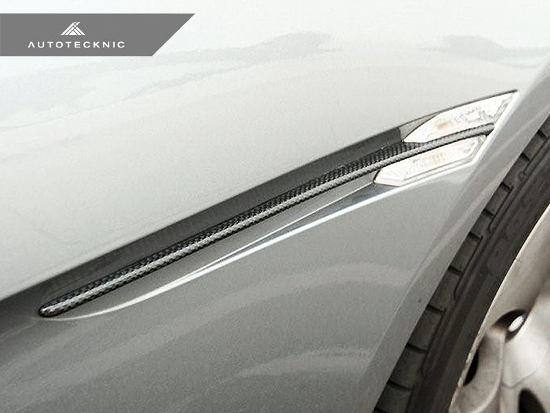 AutoTecknic Replacement Carbon Fiber Fender Slats - E63 Coupe / E64 Cabrio 6 Series & M6 - AutoTecknic USA