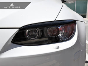 Shop AutoTecknic Carbon Headlight Covers -  BMW E92/ E93 3-Series Coupe/ Convertible & M3 - AutoTecknic USA