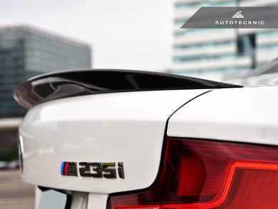 AutoTecknic Vacuumed Carbon Fiber Performante Trunk Spoiler - F22 2-Series | F87 M2 Coupe