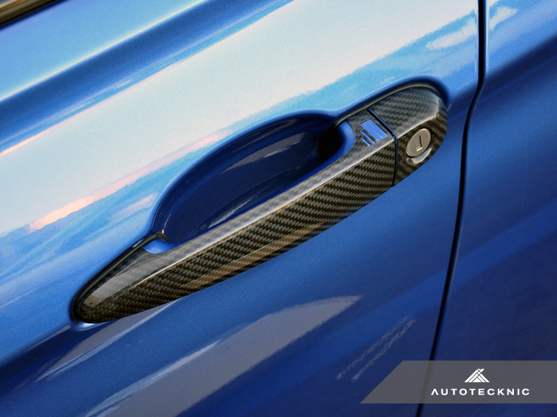 AutoTecknic Dry Carbon Fiber Door Handle Trims - E90/ E92/ E93 3-Series - AutoTecknic USA
