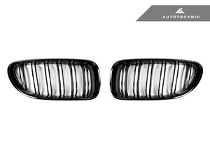 Shop AutoTecknic Replacement Dual-Slats Glazing Black Front Grilles - F06 Gran Coupe / F12 Coupe / F13 Cabrio | 6 Series & M6 - AutoTecknic