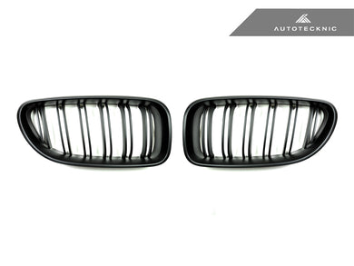 Shop AutoTecknic Replacement Dual-Slats Stealth Black Front Grilles - F06 Gran Coupe / F12 Coupe / F13 Cabrio | 6 Series & M6 - AutoTecknic