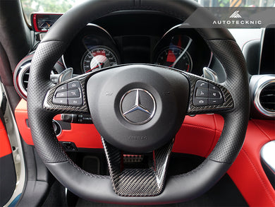Shop AutoTecknic Carbon Fiber Steering Wheel Trim - Mercedes-Benz Various AMG Vehicles - AutoTecknic USA