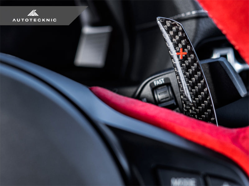 Shop AutoTecknic Dry Carbon Battle Version Shift Paddles - A90 Supra 2020-Up - AutoTecknic USA