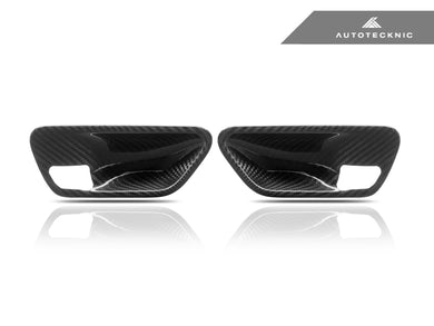 Shop AutoTecknic Dry Carbon Interior Door Handle Trims - BMW F-Chassis - AutoTecknic USA
