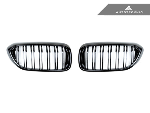 Shop AutoTecknic Replacement Dual-Slats Glazing Black Front Grilles - G30 5-Series - AutoTecknic