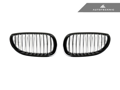 AutoTecknic Replacement Glazing Black Front Grilles - E60 5-Series | M5