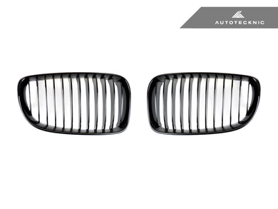 AutoTecknic Replacement Glazing Black Front Grilles - E82 1-Series | 1M