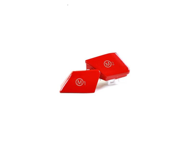 Shop AutoTecknic Bright Red M1/ M2 Button Set - BMW F-Chassis M Vehicles - AutoTecknic