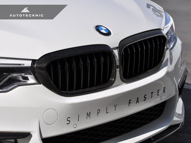 AutoTecknic Dry Carbon Fiber Front Grille Covers - G30 5-Series