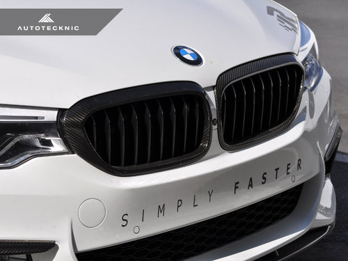 AutoTecknic Carbon Fiber Front Grille Covers - G30 5-Series