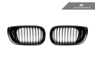 Shop AutoTecknic Replacement Stealth Black Front Grilles - E46 3-Series LCI Sedan (2002-2005) - AutoTecknic USA