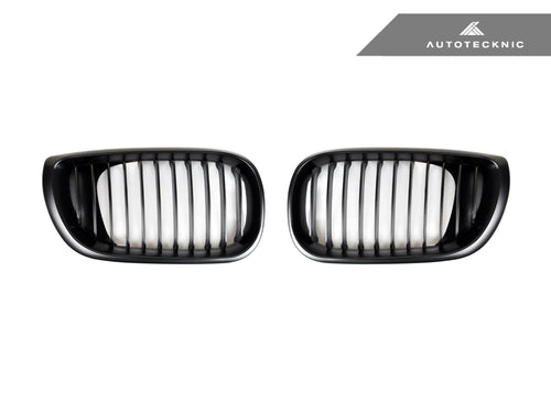 Shop AutoTecknic Replacement Stealth Black Front Grilles - E46 3-Series LCI Sedan (2002-2005) - AutoTecknic