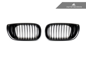 Shop AutoTecknic Replacement Stealth Black Front Grilles - E46 3-Series Sedan Facelift - AutoTecknic