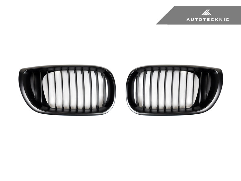 AutoTecknic Replacement Stealth Black Front Grilles - E46 3-Series Sedan Facelift