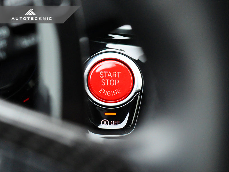 AutoTecknic Bright Red Start Stop Button - G30 5-Series | G32 6-Series GT - AutoTecknic USA