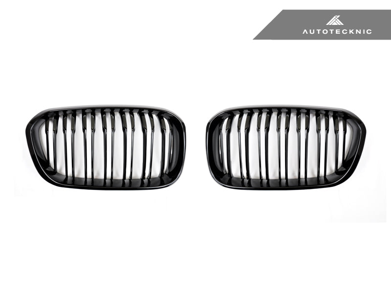 Shop AutoTecknic Replacement Dual-Slats Glazing Black Front Grilles - F20 1-Series LCI (2015-Up) - AutoTecknic USA