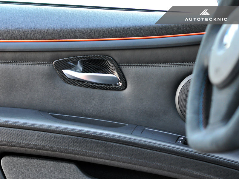 Shop AutoTecknic Dry Carbon Interior Door Handle Trims - E92 3-Series & M3 | E93 3-Series & M3 - AutoTecknic USA