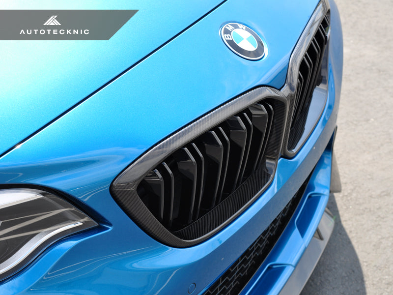 AutoTecknic Replacement Dry Carbon Grille Surrounds - F87 M2 Competition - AutoTecknic USA