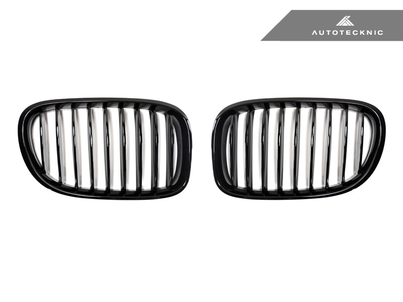 Shop AutoTecknic Replacement Glazing Black Front Grilles - F01/ F02 7-Series LCI - AutoTecknic USA