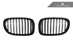AutoTecknic Replacement Glazing Black Front Grilles - F01/ F02 7-Series LCI