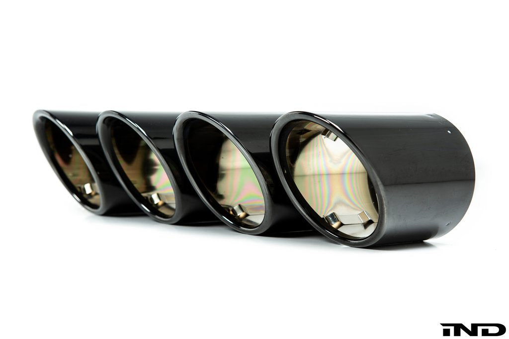 BMW Black Chrome Exhaust Tip Set - F97 X3M Competition - AutoTecknic USA