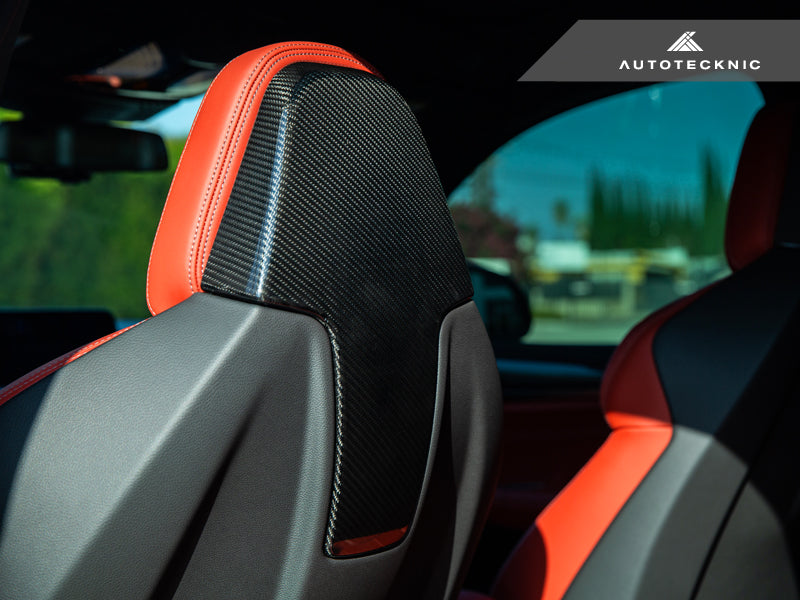 Shop AutoTecknic Dry Carbon Seat Back Cover - F97 X3M | F98 X4M - AutoTecknic USA