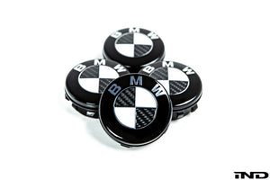 Shop IND Carbon Floating Wheel Center Cap Set - 72.6mm - AutoTecknic USA