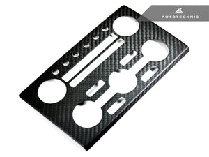 Shop AutoTecknic Dry Carbon AC Stereo Dash Panel Cover - Nissan R35 GT-R - AutoTecknic