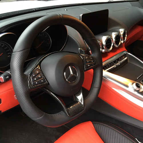 Carbon Steering Wheel Trim - Mercedes-Benz AMG GT/ GTS/ GTR
