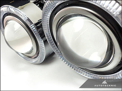 AutoTecknic Universal Projector Fog Lights - Clear Projector P1A