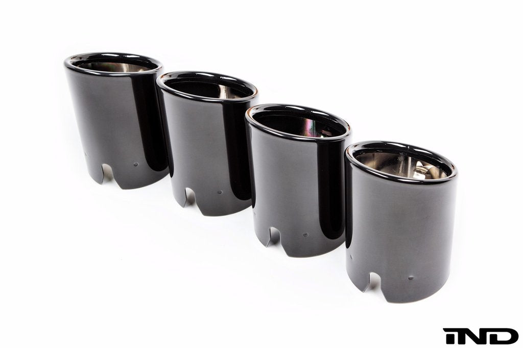 BMW M Performance Slant Cut Black Chrome Exhaust Tip Set - F87 M2 - AutoTecknic USA