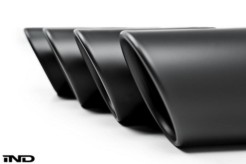 IND Matte Black Coated Exhaust Tip Set - F87 M2C | F80 M3 | F82/ F83 M4 - AutoTecknic USA