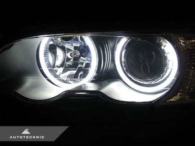 Shop AutoTecknic Clarity 66 LED Angel Eyes Halo Kit - BMW E46 3-Series Pre-Facelift Coupe & Sedan - AutoTecknic