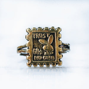 TRUST NO ONE RING (SMALL) | BRASS - LIMITED EDITION - JewelryLab