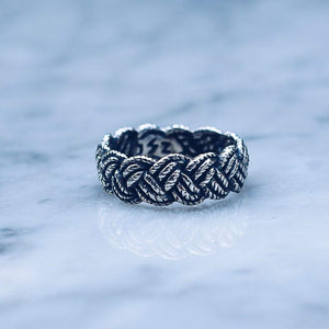 ROPE RING | 925 STERLING SILVER - JewelryLab